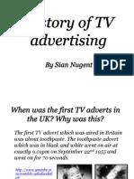 History of Tv advertising