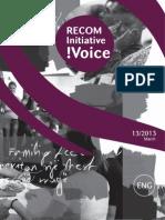 RECOM Initiative !Voice 13-2012