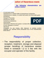 Characterization of Hazardous Waste