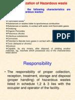 Characterization of Hazardous Waste