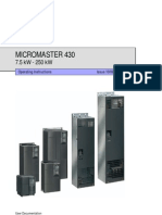 Siemens Micromaster 430 Manual