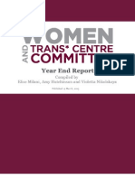 Women's and Trans* Centre Committee - Year End Report