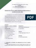 Actas Pleno 17 de Enero de 2013