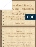 Postmodern Literary Theory and Translation by MarthaPulido