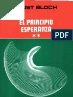 Bloch. El Principio Esperanza Vol-II