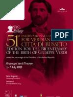 """51st INTERNATIONAL COMPETITION FOR VERDIAN VOICES """"CITTÀ DI BUSSETO"""""""