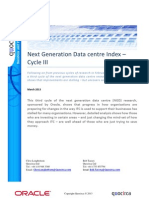 Next Generation Data centre Cycle III - it's the nuances that matter