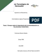 Importancia de la automatización en los procesos industriales