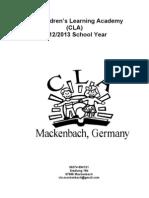 CLA Student Handbook 2012-2013