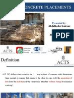 Mass Concrete Placement OEA Dec 20