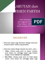 Kelarutan Dan Koefisien Partisi