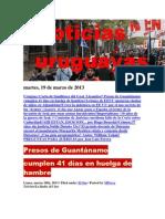 Noticias Uruguayas Martes 19 de Marzo Del 2013