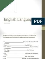 Engleski Jezik II. Priprema Za I Kolokvijum