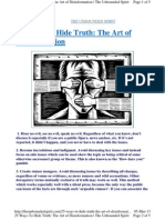 25 Ways to Hide Truth
