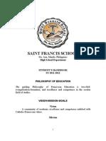 Sfs Hs Handbook 2011-2012 for Implementation