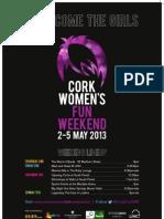 Cork Womens Fun Weekend 2013 poster