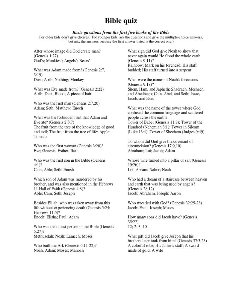 Quizzler Bible Quiz