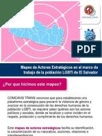 Karla Avelar (Comcavis Trans), Mapeo de actores estratégicos en el marco de trabajo de la población LGBTI de El Salvador