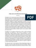 1233523193China Ante La Crisis Financiera Internacional CEIPAZ