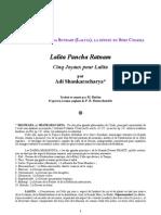 Shankara LalitaPanchaRatnam-Francais