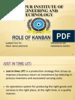 role of kanban in JIT
