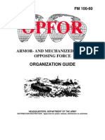 FM 100-60 OPFOR Armor- And Mechanized-Based Force Organization Guide