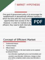 Efficient Market Hypothese