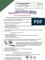 Taller de Preparacion Para La Sintesis Cuarto. 2013