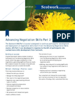 Advancing Negotiation Skills Part 2 Information Sheet