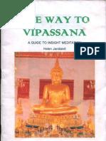 The Way to Vipassana