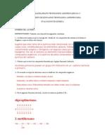 Evaluacion de Temas de Quimica Saeta.