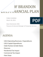 2013 Financial Plan Public Hearing — Brandon