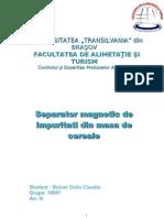 separator magnetic de impuritati