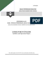 STPM Literature Syllables