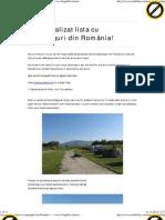 Lista Camping-uri Romania