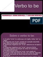 Verbo to Be.ppt [Salvo Automaticamente]
