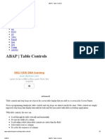 6 ABAP _ Table Controls