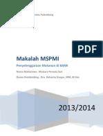 makalah MSPMI