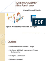 Process Improvement & Six Sigma