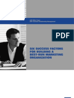 Six Success Factors for Building a Best-Run Marketing Organization