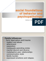 Psychosocial Foundations of Behavior and Psychopathology