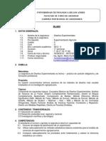 SILABO DE DISEÑOS EXPERIMENTALES 2012 - II