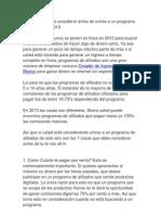 7 Cosas Que Debe Considerar Antes de Unirse a Un Programa de Afiliados en 2013