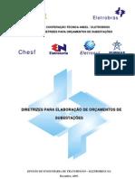 ANEXO 4 - Diretrizes para elaboração de orçamentos de Subestações