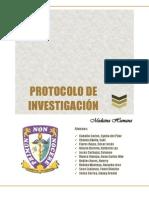 Cáncer gástrico y nitrosaminas - Protocolo