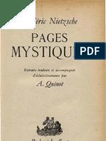 Nietzsche PAGES MYSTIQUES Armand Quinot Aix en Provence 1944 Paris 1945