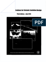 AASHTO Guide Specifications for Seismic Isolation Design