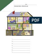 divisões da casa - construção frásica