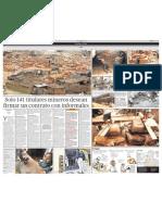 Solo 141 titulares mineros desean firmar un contrato con informales