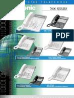 Panasoinc 7000 Series Phones
